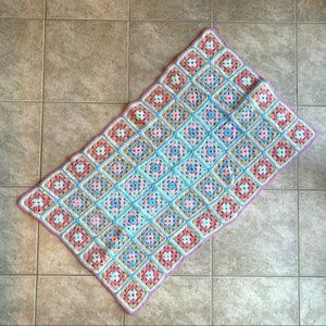 Granny Square Hand-Crocheted Blanket Afghan Throw